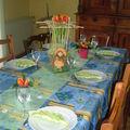 table printemps fleurie