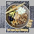 Bol repas façon bibimbap coréen - challenge fins de mois difficles - #fdmd6