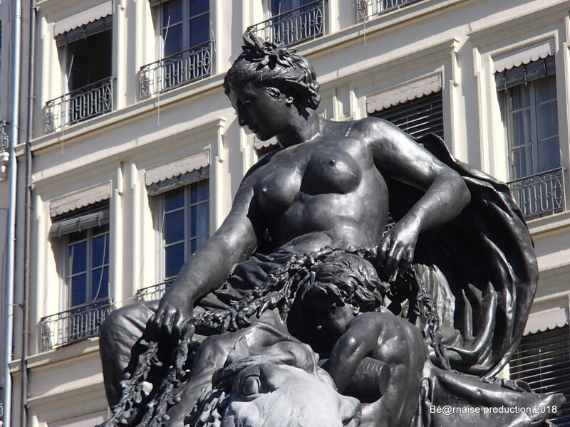 La Garonne de la Fontaine Bartholdi à Lyon