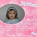Carte d'invitation 2 ans maéva
