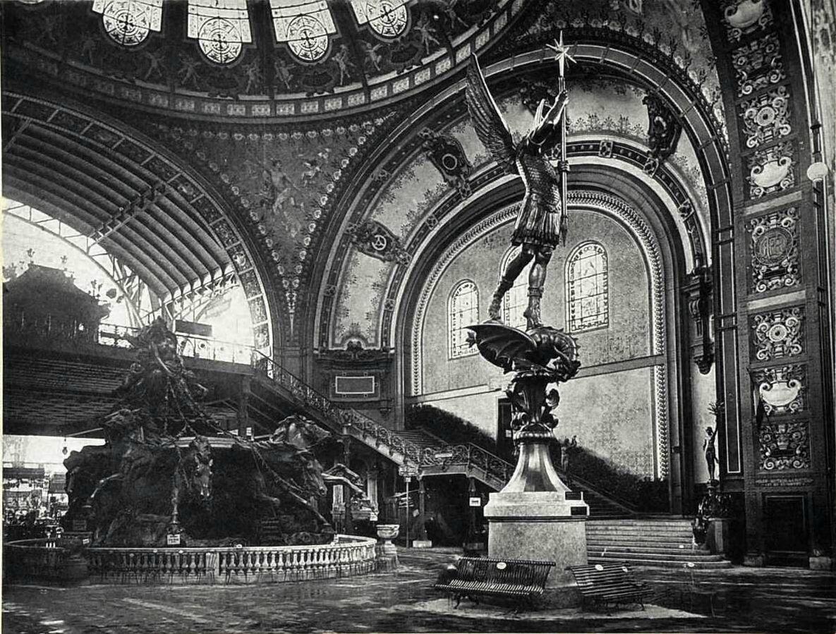 Vue aérienne de l'exposition universelle de 1889