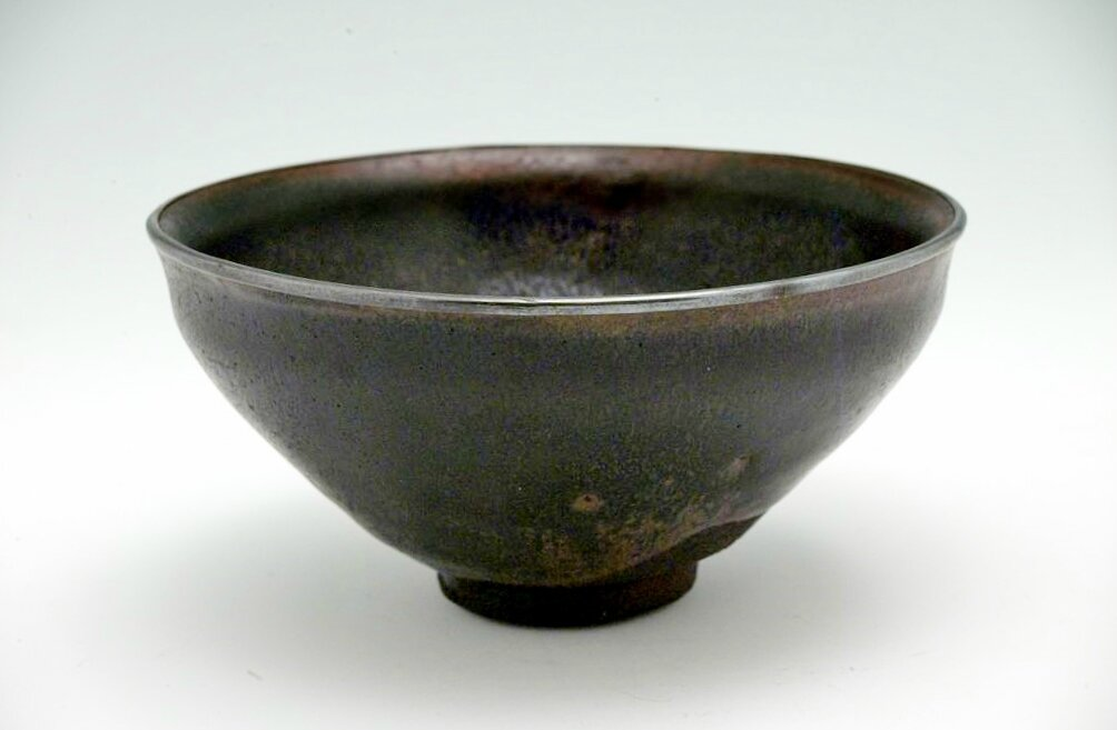 Teabowl with Slightly Indented Lip and Pale Russet Hare's Fur Markings, Song dynasty, 12th-13th century
