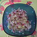 Salade de fenouil, radis, et concombre