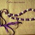collier violettes