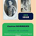 Gaston normand - carnet de guerre