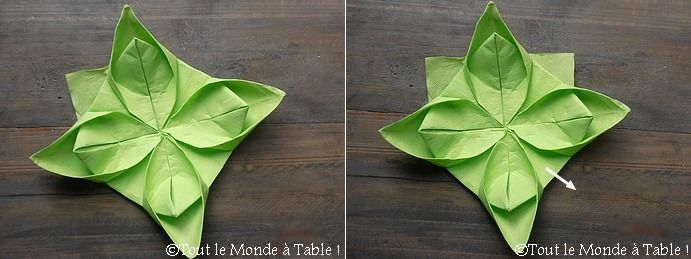 Pliage De Serviette En Fleur De Lotus Tout Le Monde A Table