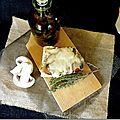 Tartine champignons mozzarella