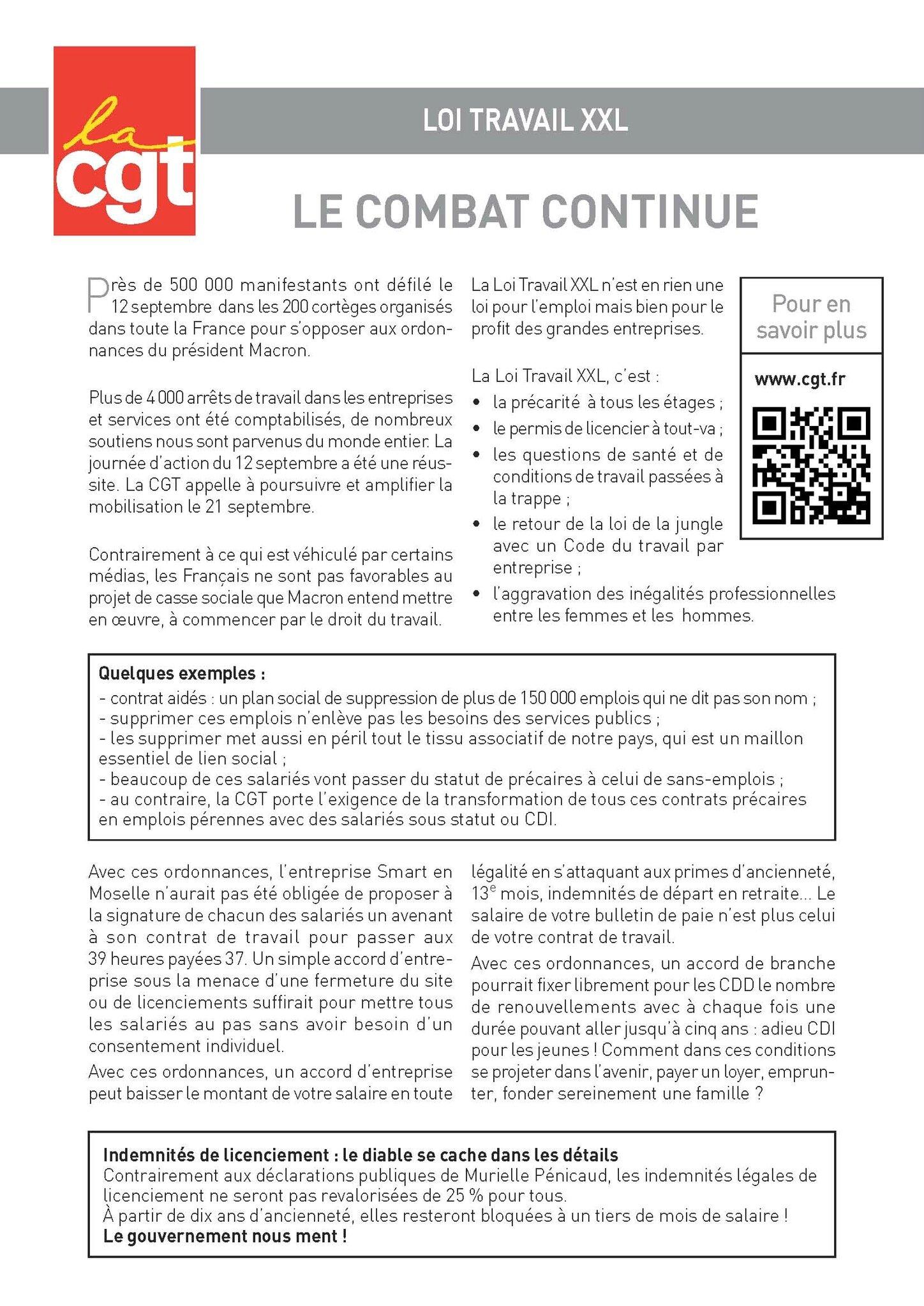 Loi Travail XXL: Le combat continue