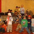 Los niños del jardín infantil en la sede de la Sagrada Familia