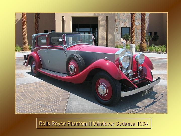 1934 - Rolls Royce Phantom II Windover Sedanca