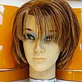 Décoration ... tete a coiffer * féminine