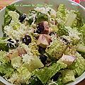 Salade de poulet et bleuets, vinaigrette au sésame, sans gluten et sans lactose