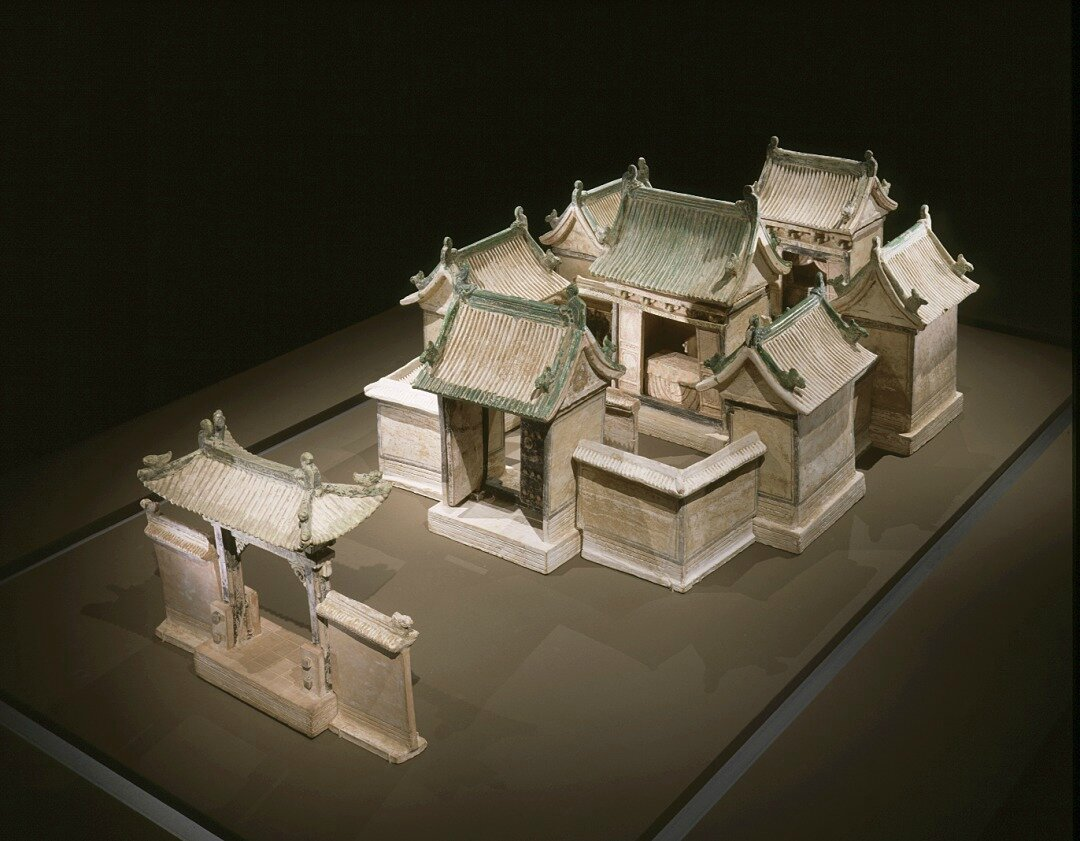 Funerary Sculpture of a Double-Courtyard Residential Compound, China, probably Shanxi Province, Chinese, middle Ming dynasty, about 1450-1550