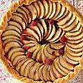 Tarte fine aux pommes et framboises - yapasplusimple