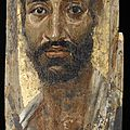 Portrait of a thin-faced man, a.d. 140–170, roman period, egypt