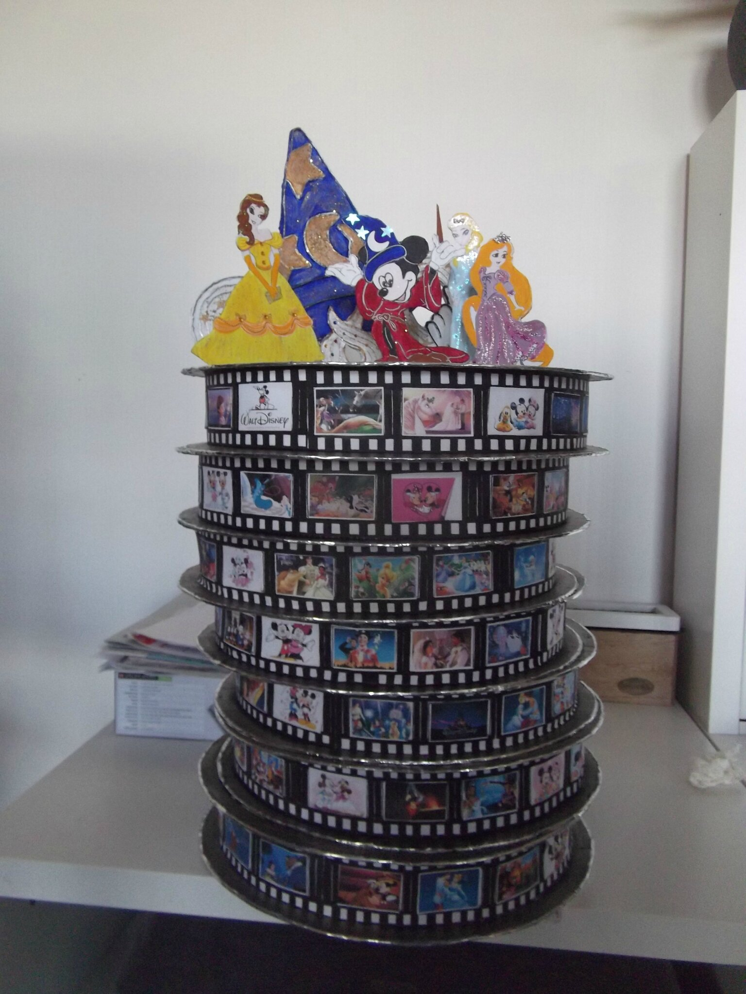 urne de mariage thème : le cinéma de Disney