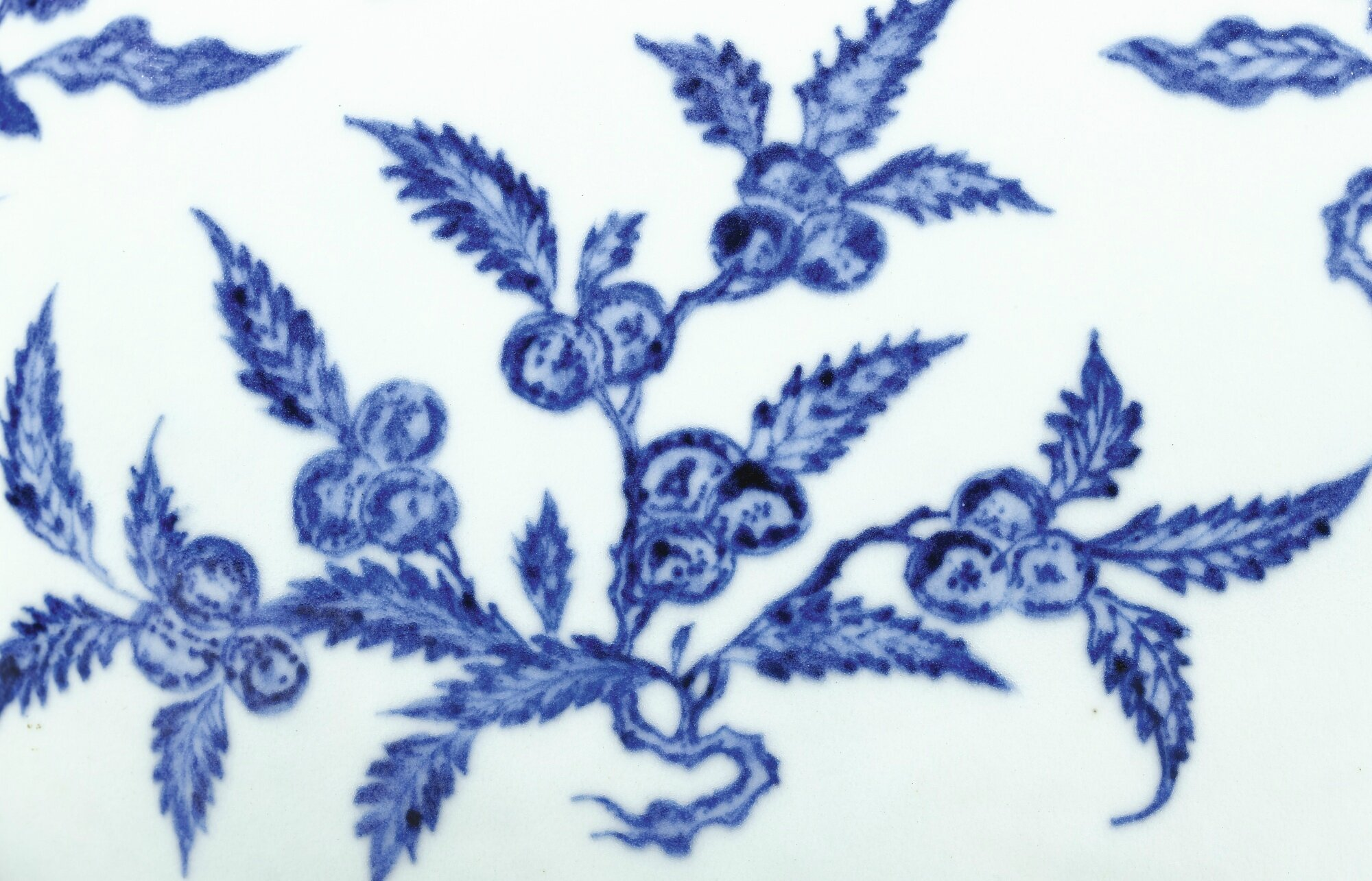 An Extremely Fine And Rare Ming Style Blue And White Flowers And