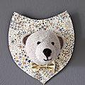 trophée ourson au crochet pour Lancelot