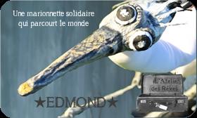 Edmond une marionnette solidaire qui parcourt le monde