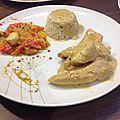 Poulet au lait de coco et au curry
