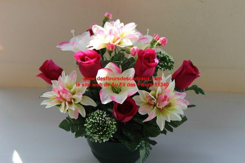 fleurs artificielles cimetière 108