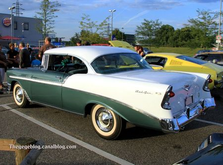 Chevrolet bel air sport hardtop coupe de 1956 (Rencard du Burger king septembre 2011) 03