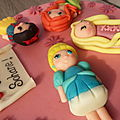 Gateau mini princesses disney
