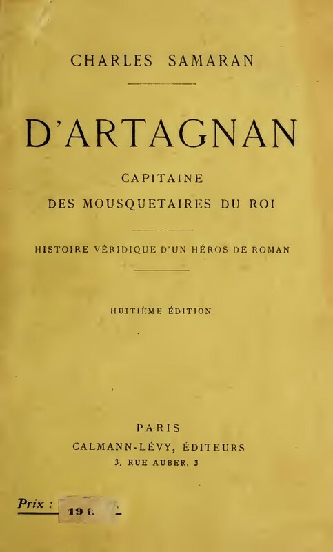 D'Artagnan Capitaine des mousquetaires du roi (Charles Samaran)
