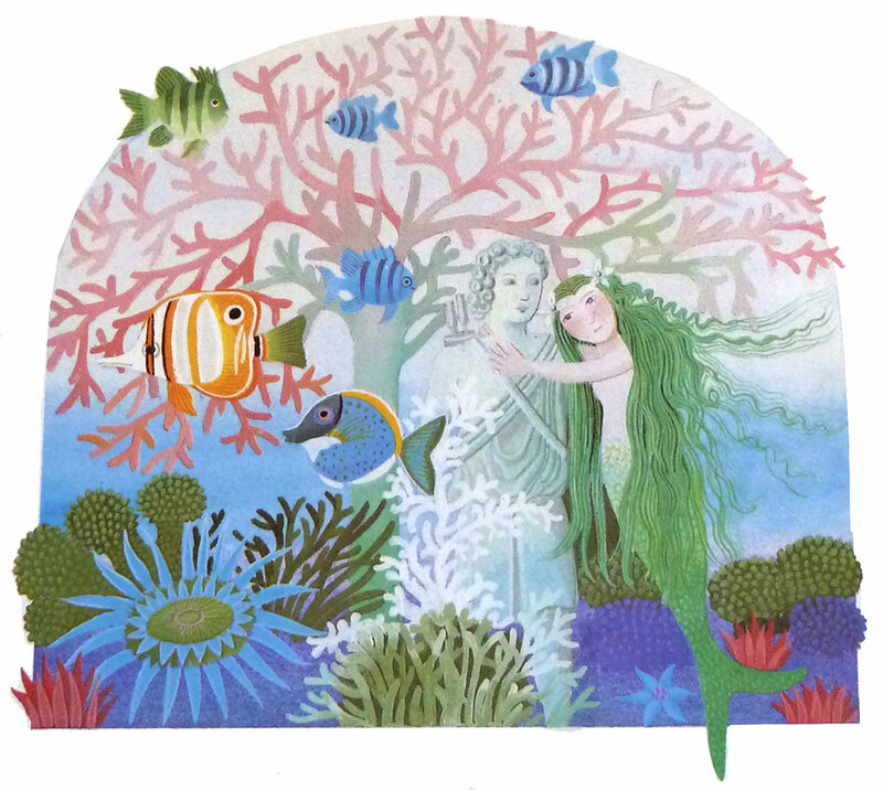 Danièle Bour - La petite sirène d'Andersen - dans le jardin secret