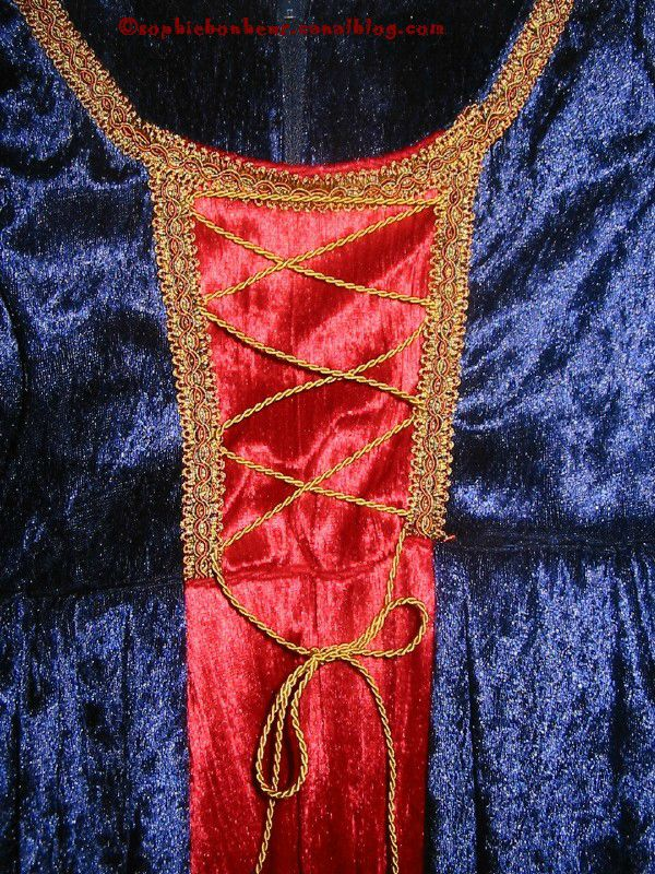 couture robe princesse detail