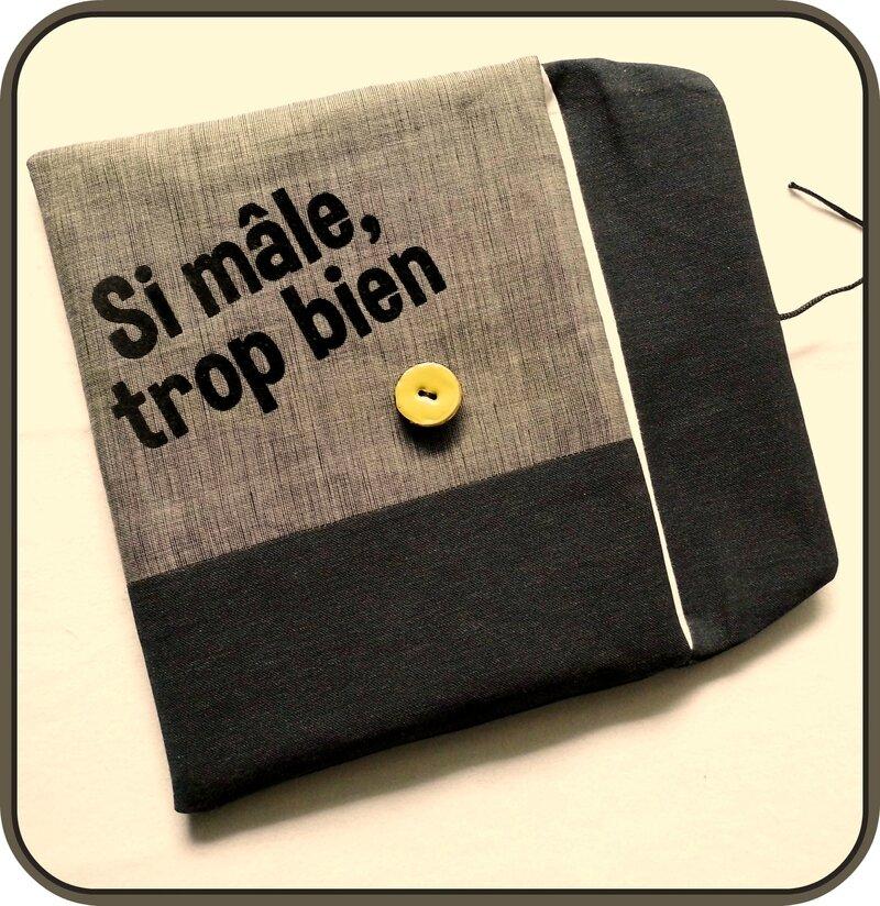 Pochette tablette bleu ouverte Juin 2014