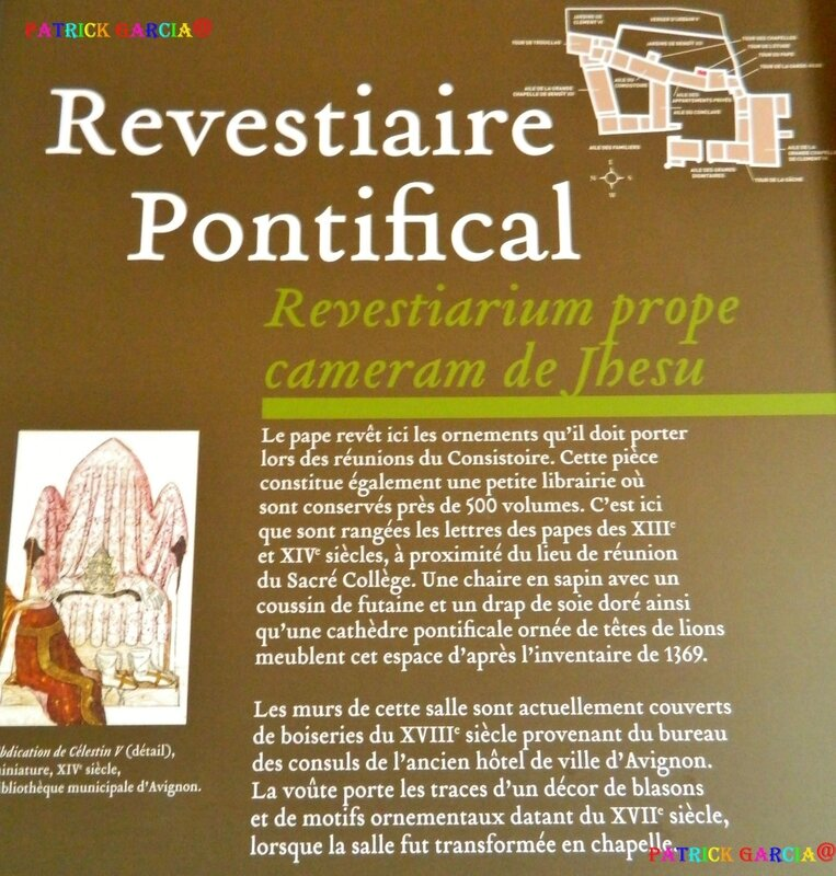 AVIGNON PALAIS INTERIEUR REVESTIAIRE PONTIFICAL 804 copie