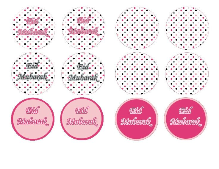 cupcake toppers petits points