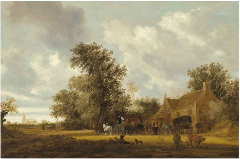 2019_NYR_18934_0635_000(salomon_van_ruysdael_a_wooded_landscape_with_cattle_carriages_on_a_tra)