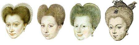 La coiffure des années 1590