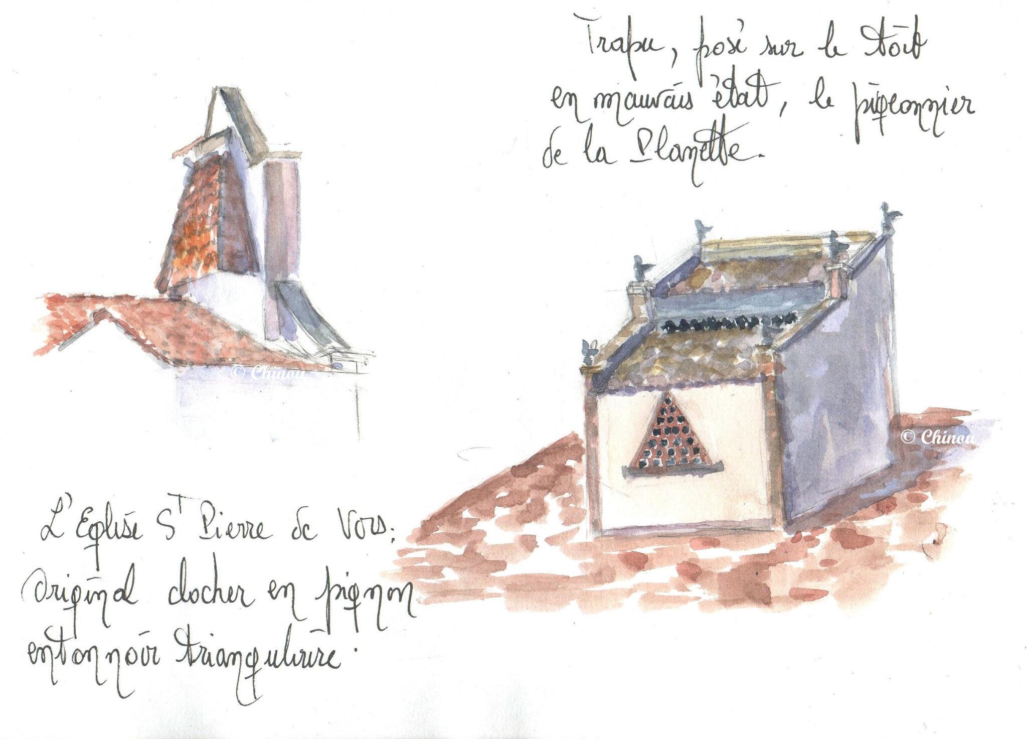 St pierre de Vors Eglise et pigeonnier