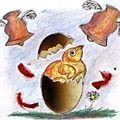 La poule aux yeux d'or, par j.c. boyrie