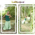 Sarouel vert d'eau - robe vert sapin