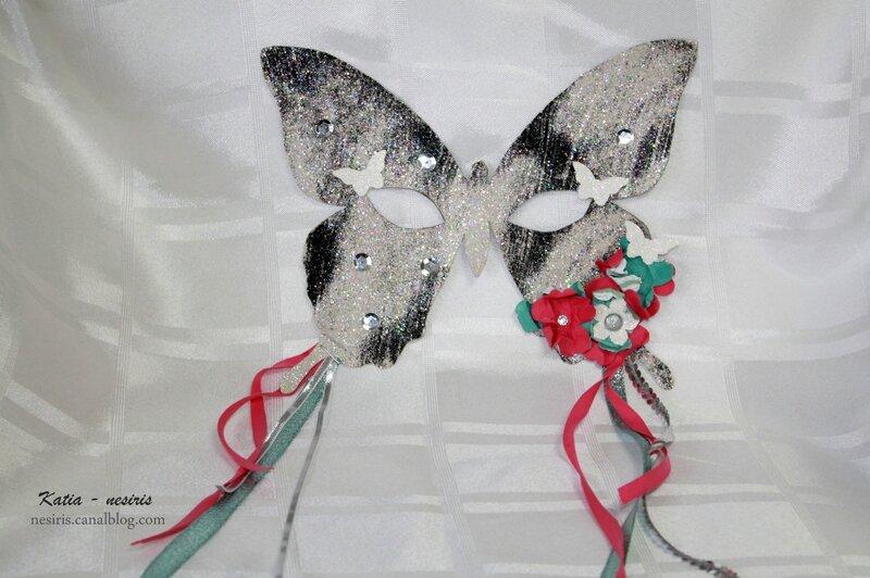 Masque Carnaval 2 - Papillon - Katia Nesiris - Démonstratrice Stampin'up