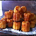 Cannelés ananas coco