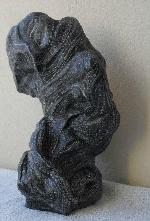 Hervé THAREL SCHMIMBLOCK'S prometheus 2012 - acrylique sur argile - 20,5cmx27cm (01)