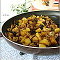 Fricassee d'aubergines & pommes de terre aux olives