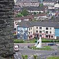 Fresque du Bogside vue depuis les remparts