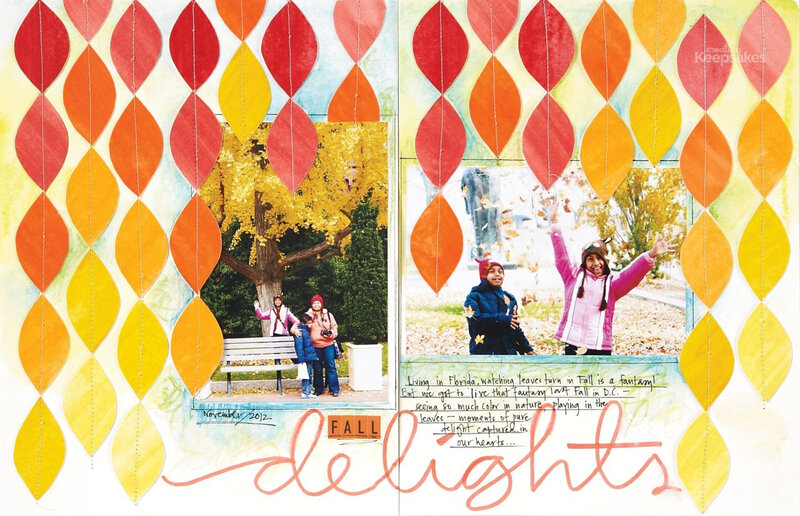 fall-scrapbook-layouts-leaves-scrapbook-how-to-create-ombre-accents-septemberoctober-2013