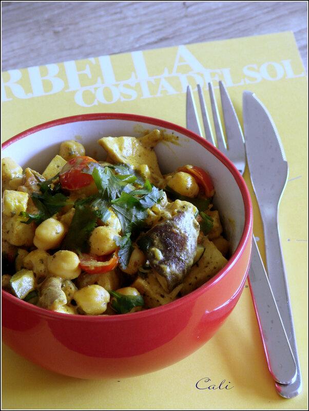 Curry de Tofu, Pois Chiches & Légumes 001