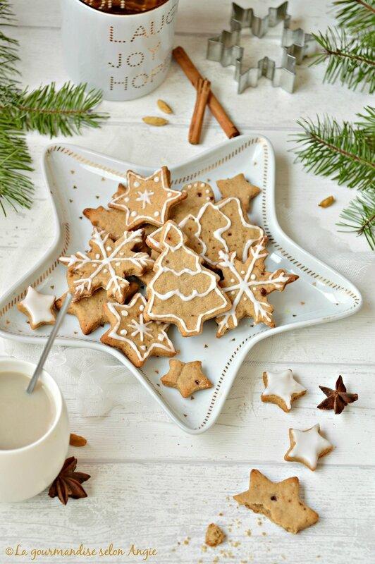 biscuits de Noël au chaï vegan