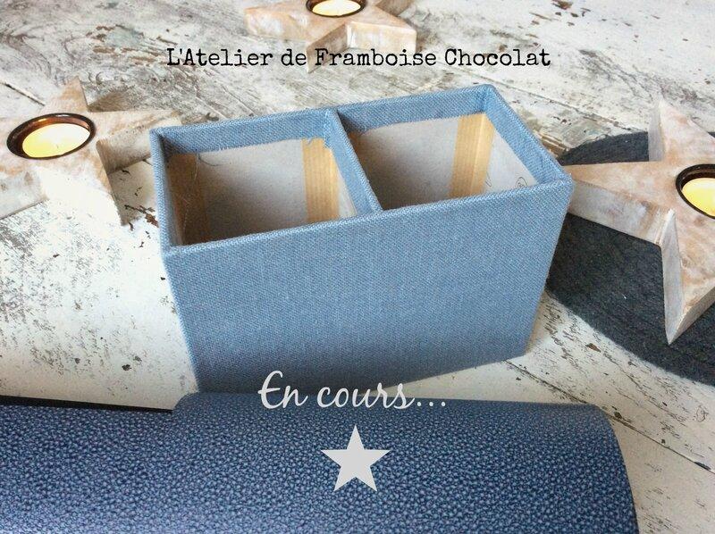 Pot crayons en cours L'Atelier de Framboise Chocolat Nathalie QUETU