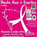 5ème édition de la marche rose à deyvillers - dimanche 2 octobre 2016