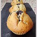 Muffins à la confiture de myrtilles