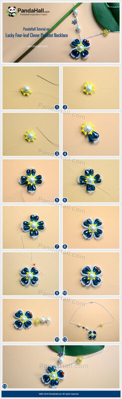 3-PandaHall-Tutorial-on-Lucky-Four-leaf-Clover-Pendant-Necklace